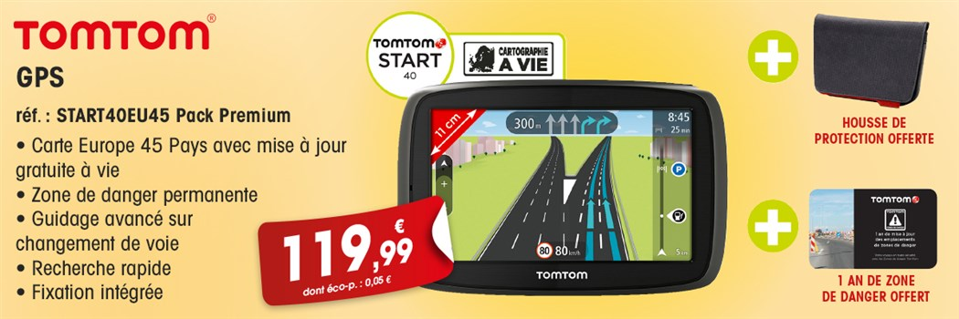GPS TomTom START 40EUROPE45PACK PREM